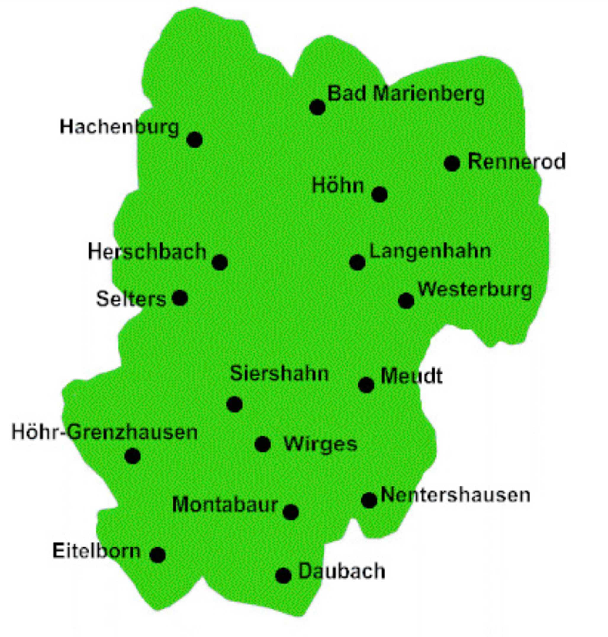 Westerwald Karte.Ortsvereine Kreisverband Westerwald E V
